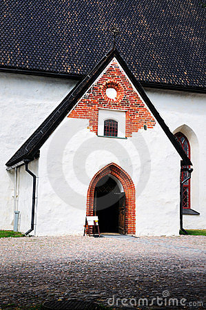 Entrance to the Church in Porvoo
