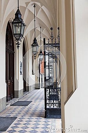 Entrance to Jagiellonian University in Krakow