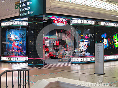 Entrance to a Disney Store.