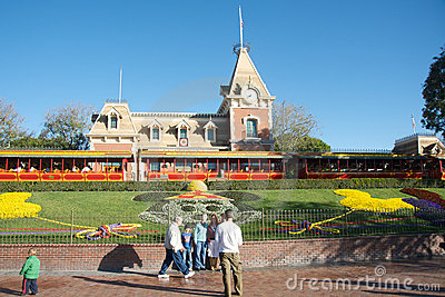 Entrance to Disneyland Editorial Stock Image