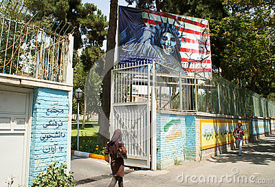 Entrance to Embassy of the United States, Tehran Editorial Image
