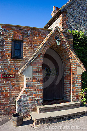 Entrance to an English country pub