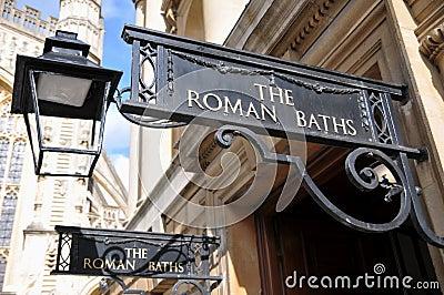 Entrance to the Famous Roman Baths in Bath England