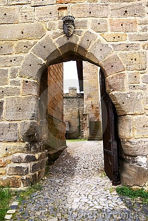 Entrance to gothic castle
