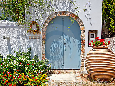 Entrance to greek house