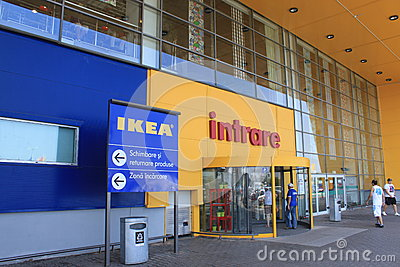 Entrance to Ikea Bucharest Editorial Stock Image