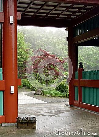 Entrance to the Japanese garden in Tokyo
