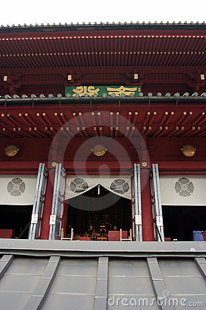 Entrance to Japanese temple