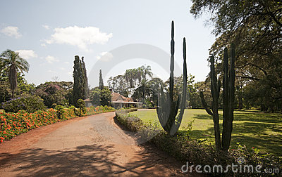 Entrance to Karen Blixen s house, Kenya.