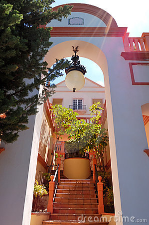 Entrance to the luxury villa