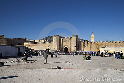 Entrance to the medina of Fes in Marocco Editorial Stock Photo