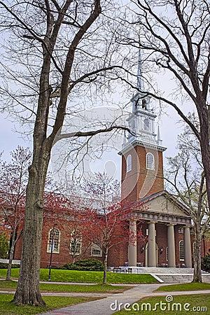 Free Entrance To Memorial Church In Harvard Yard Stock Image - 72318051