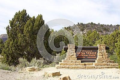 Entrance to Mesa Verde National Park Editorial Stock Photo