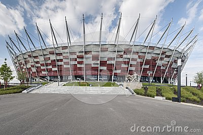 Entrance to National stadium, Warsaw, Editorial Stock Image