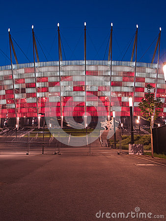 Entrance to National stadium, Warsaw, Poland Editorial Photo