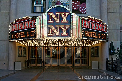 Entrance to the NY NY Casino - Las Vegas Editorial Photo