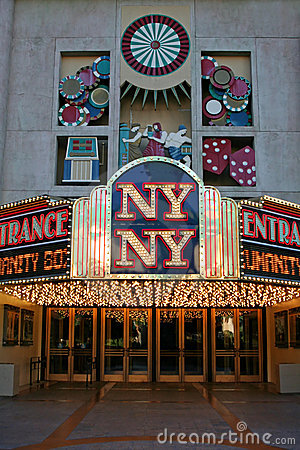 Entrance to the NY NY Casino - Las Vegas Editorial Photography