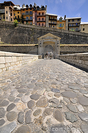 Entrance to old fortified centre of Briançon