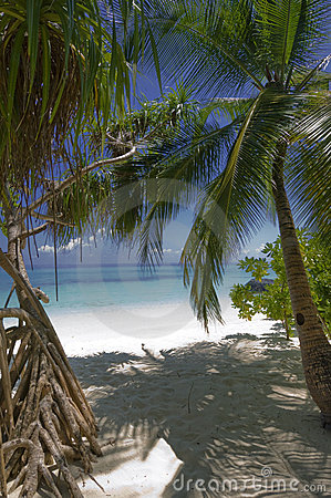 Free Entrance To One Of  Best White-sand Beaches Stock Image - 5293391