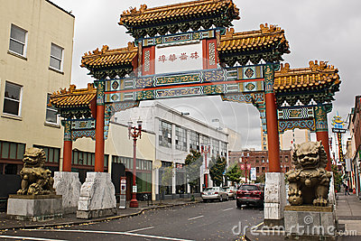 Entrance to portland chinatown Editorial Photo
