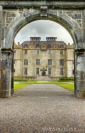 Entrance to the Portumna castle in Ireland.
