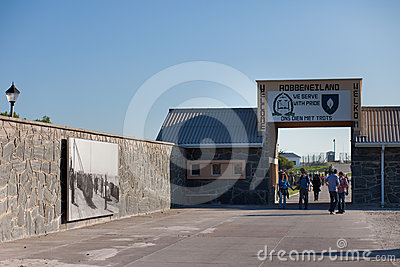 Entrance to Robben Island Prison Editorial Image