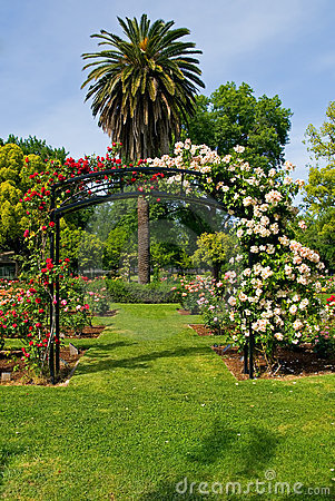 Free Entrance To Rose Garden Stock Photography - 4404952