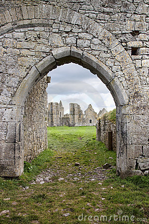 Entrance to the ruins of Dominican abbey, Ireland.