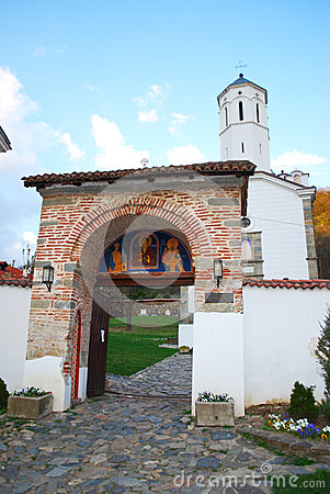 Entrance to a Serbian monastery