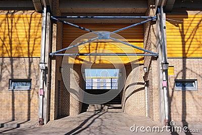 Entrance to stadium