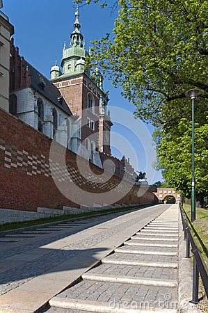Entrance to Wawel Castle in Krakow, Poland