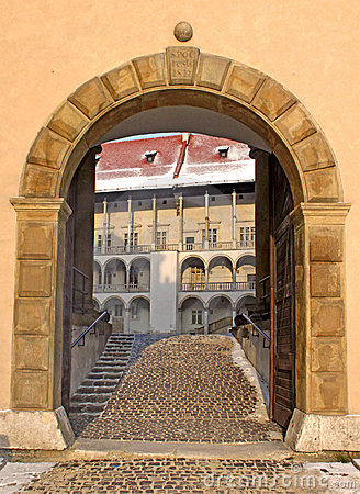 Entrance to Wawel palace