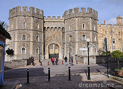 Entrance to Windsor Castle in England Editorial Stock Photo