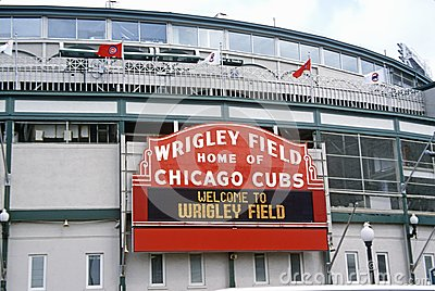 Entrance to Wrigley Field, Editorial Stock Image
