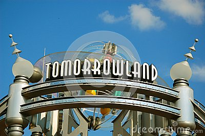 Entrance of Tomorrowland Editorial Photography