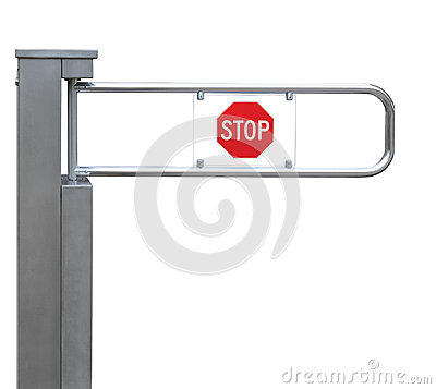 Entrance tourniquet, turnstile stainless steel red