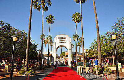 Entrance of Universal Studios Hollywood Editorial Stock Image