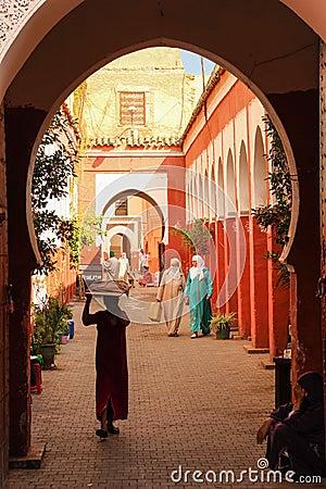Free Entrance. Zaouia Sidi Bel Abbes. Marrakesh. Morocco Royalty Free Stock Photography - 107015327