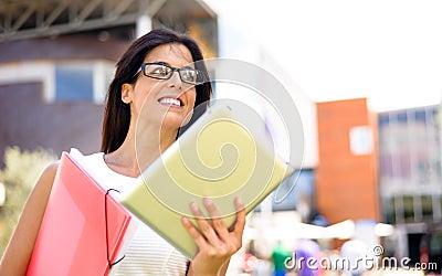 Entrepeneur modern dynamic business woman
