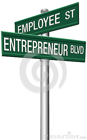 Free Entrepreneur Employee Street Choice Signs Royalty Free Stock Photography - 28132387