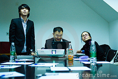IT entrepreneurs meeting Editorial Stock Image