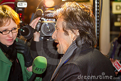 Entrevista de Pacino do Al para a tevê do RTE Imagem de Stock Editorial