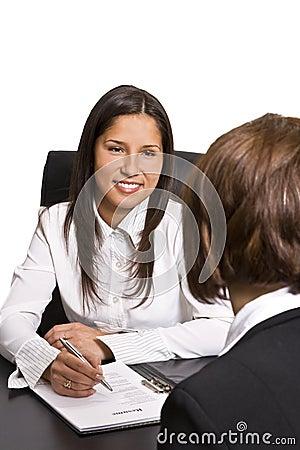 Entrevue d affaires
