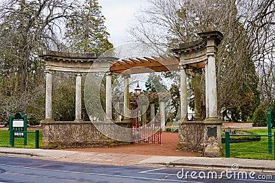 Entry arch, botanical gardens