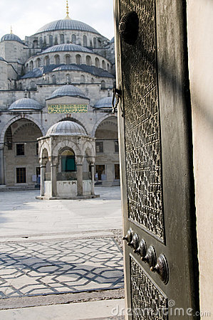 Entry Blue Mosque Istanbul Turkey Royalty Free Stock Photography - Image: 20146637