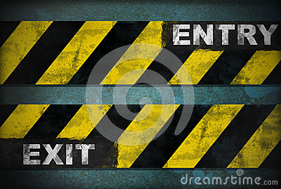Entry exit sign