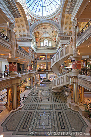 Entry of The Forum Shops in Las Vegas Editorial Photography