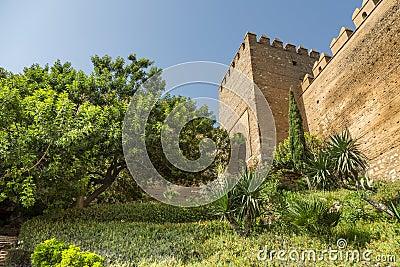 The entry staircase Alcazaba