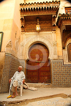 Entry to the mosque Editorial Stock Image