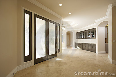 Entry way in a luxury home